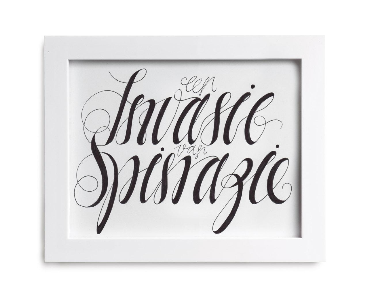 Letterhand-Spinazie