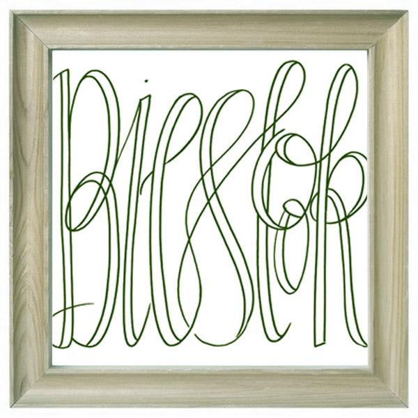 Letterhand-Bieslook-frame