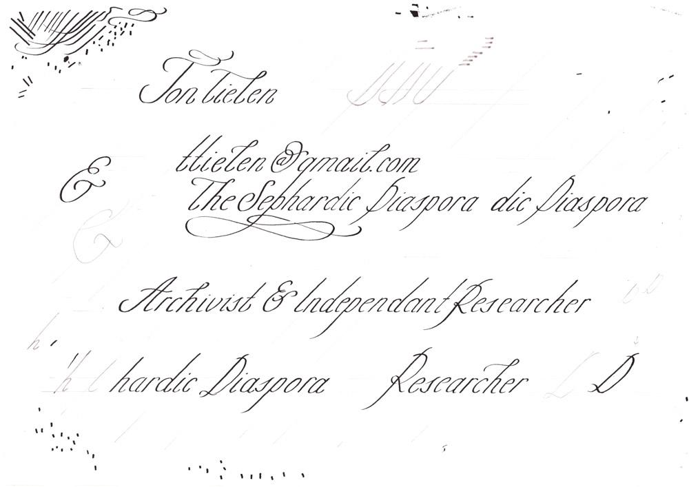 Letterhand-Visitenkaartjes-Schets